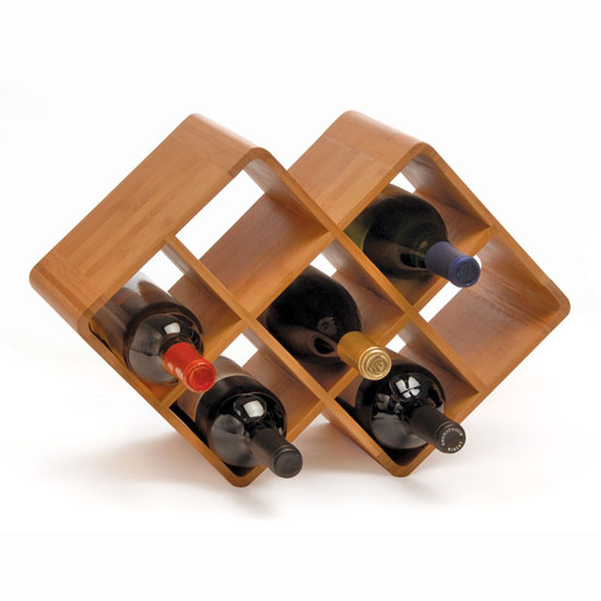Oenophilia Bamboo 8-Bottle Wine Rack