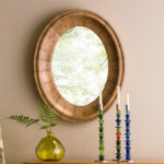 Oval Mango Wood Mirror is Crafted from Mango Trees