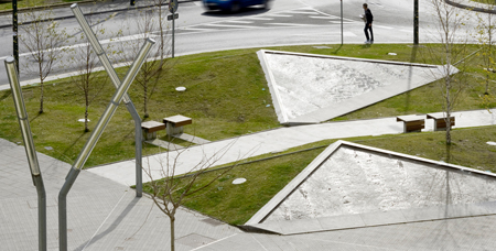 The Rocky Embankment on Jesus Galindez Avenue by ACXT Architects
