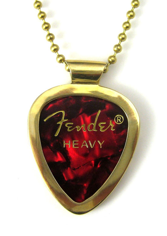 PickBay Guitar Pick Holder Necklace ECO-BRASS