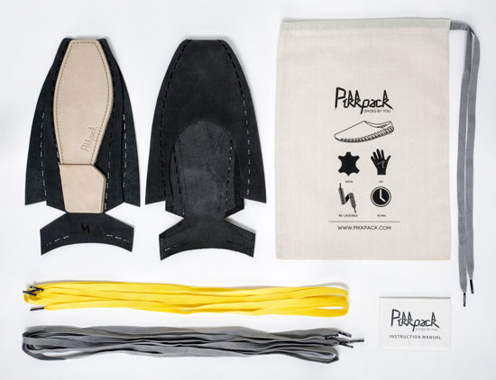 Pikkpack Revolutionary Flat-Packed Shoes by Sara Gulyas
