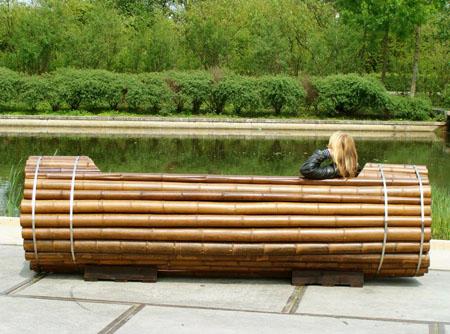 Pile Isle Bamboo Bench