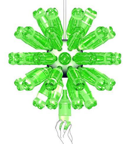 ReGlow plastic bottle lamp
