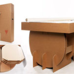 Portable Cardboard Table which All Parts are Replaceable