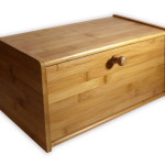 Pure Bamboo Modern Bread Box Is Large Enough for 2 Loafs of Bread