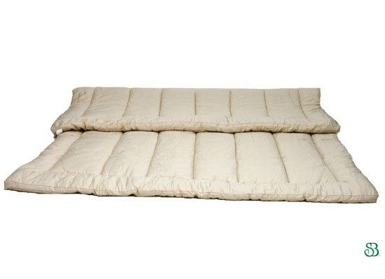 Quilted Organic Wool Mattress Topper