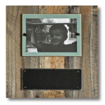 Reclaimed Wood Chalkboard Frame with Safe Plexiglass
