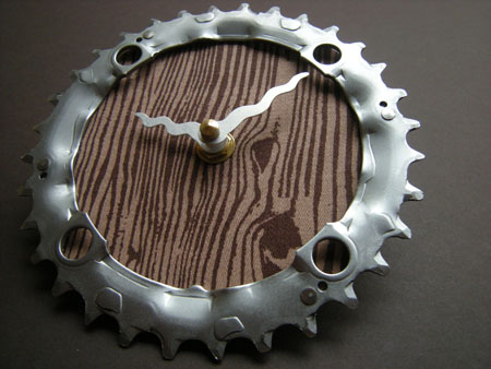 Recycled Bike Chain Ring Wall Clock