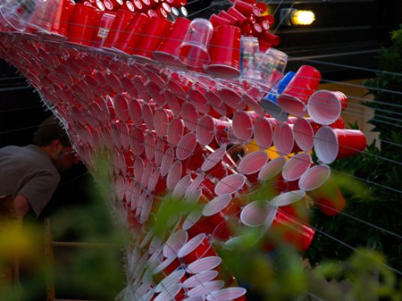 Recycled Cup Canopy