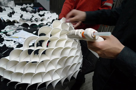 Recycled Paper Cup Lamp