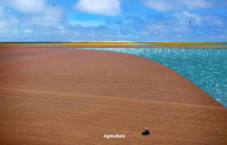 Recycled Plastic Island