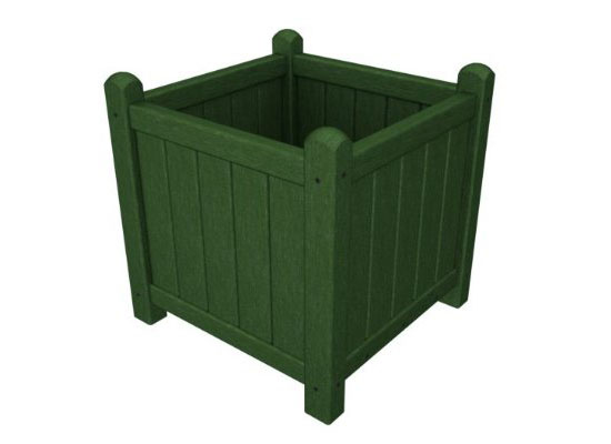 Recycled Earth-Friendly Outdoor Square Garden Flower Planter