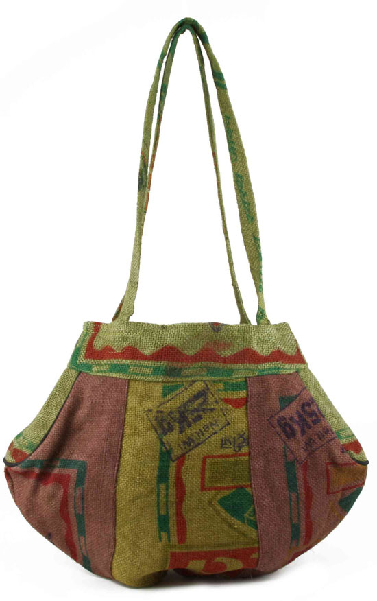 Recycled Rice Hemp Hobo Bag