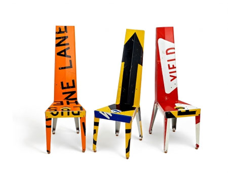 Recycled Street Signs Furniture