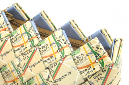 Recycled Subway Maps