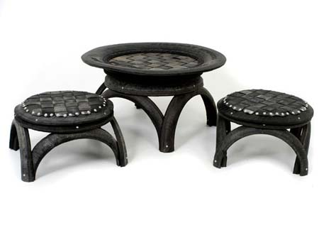 Recycled Car Tire Furniture