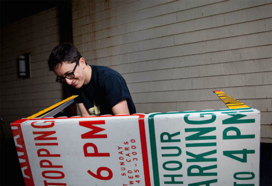 David Joseph Goteiner Created Recycled Traffic Sign Furniture - Road sign furniture