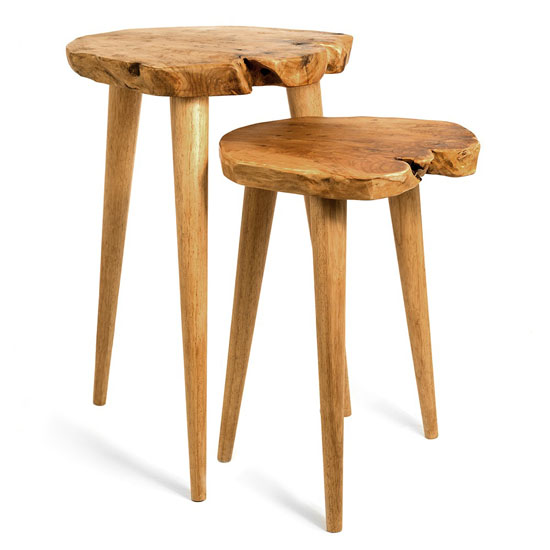 Bambeco Root Wood Nesting Table Collection