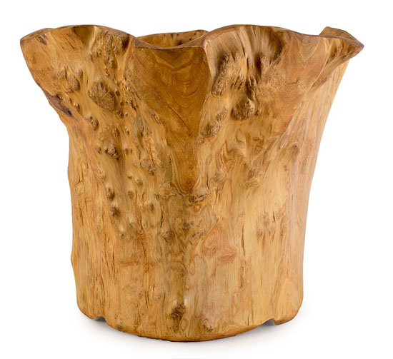 Natural Root Wood Planter