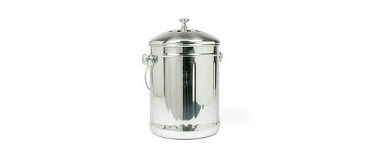 RSVP International Endurance Stainless Steel Compost Pail