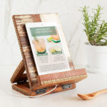 Salvaged Wood Cookbook and Tablet Stand Is Handmade in India