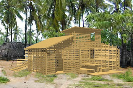 Pallet House Plans Of I Beam Design