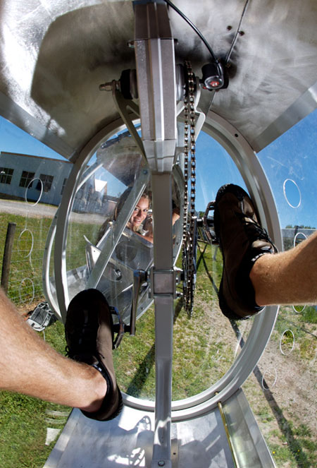 shweeb human powered roller coaster ride