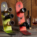 Handmade Snow Ski Wine Rack to Display Your Favorite Wine