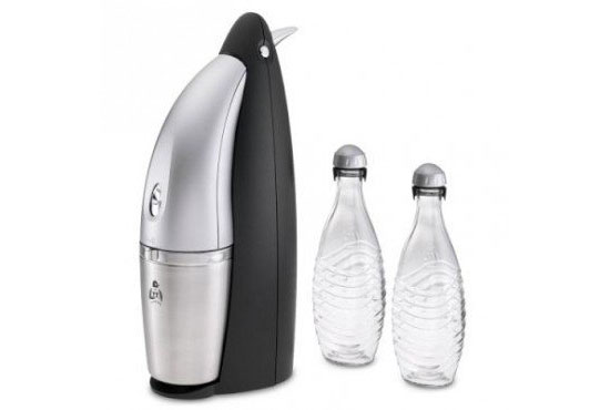 SodaStream Penguin Earth Friendly Glass Carafe Soda Maker