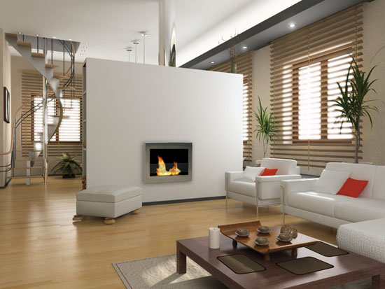 SoHo Wall Mount Ethanol Fireplace
