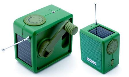 Solar Powered Radio With Hand Crank