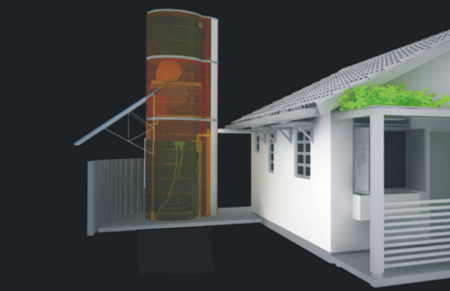 Solar Water Heating and Rainwater Tower
