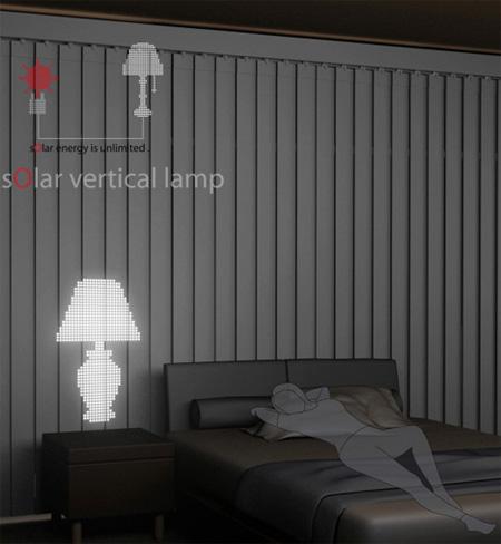 Solar Vertical Lamp by Yoon-Hui Kim & Eun-Kyung Kim