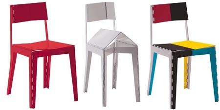 Folding Colorful Stitch Chair