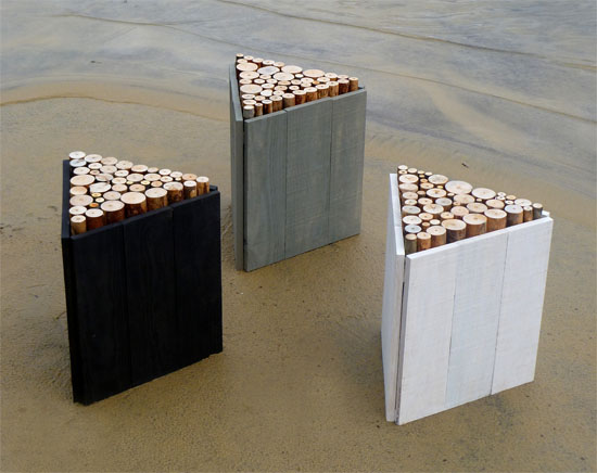 Modern Stools from Wood'Insane Design
