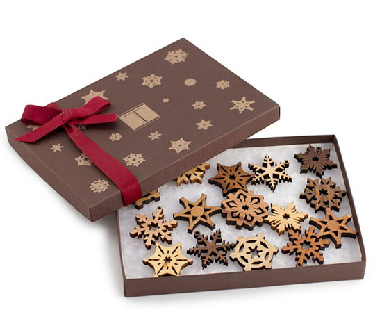 Sustainable Wood Snowflake Ornaments