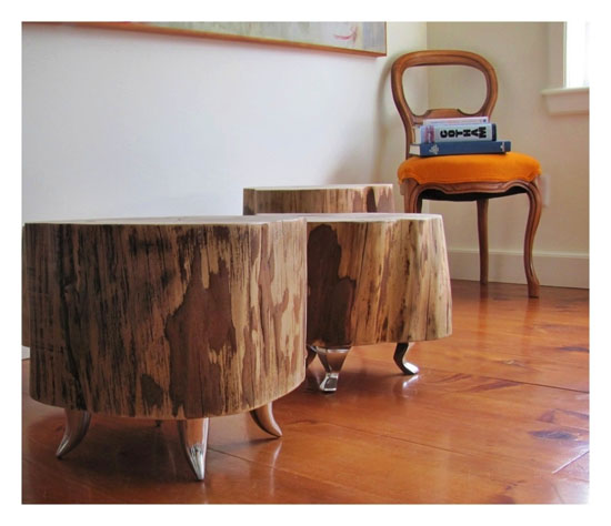Tree Trunk Tables