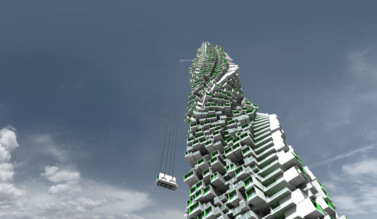 Unit fusion high rise residential building concept can be Concept buildings