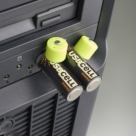 USBCELL : USB Rechargeable AA Batteries