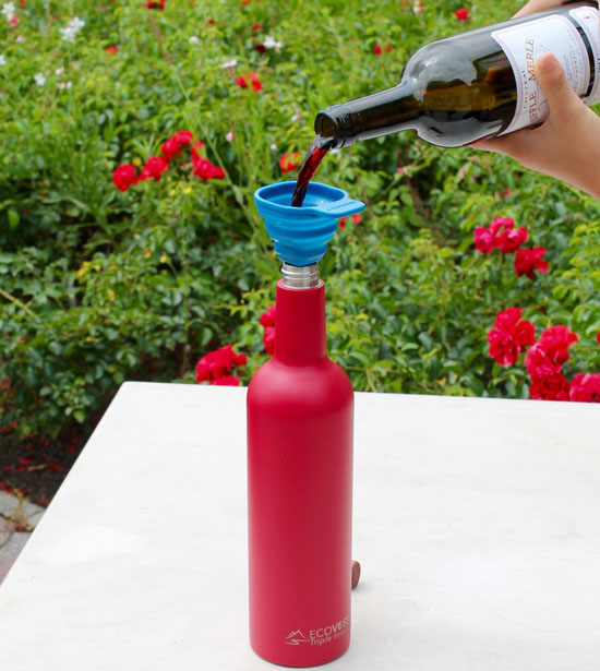 VINE Insulated Stainless Steel Wine Bottle by EcoVessel