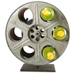 Vintage Film Reel Wine Rack Is Perfect for Classic Hollywood Home Decor