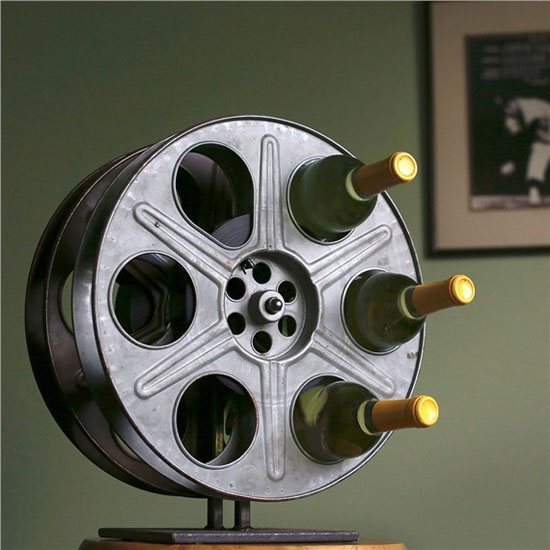 Old movie reel images reverse search for Movie reel wine rack