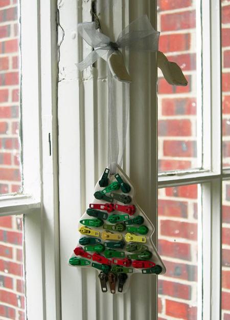 Vintage Zipper Christmas Ornaments