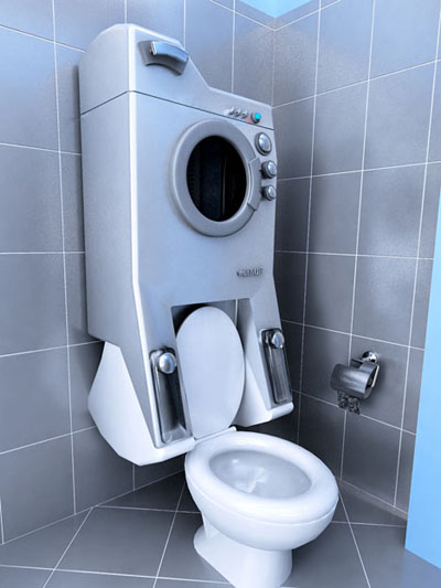 washup washing machine and toilet