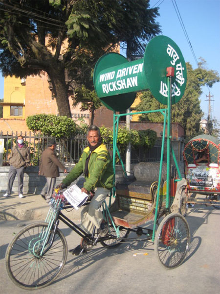 Wind-powered Rickshaw