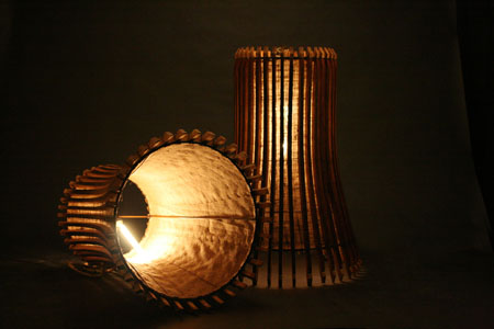 Wine Barrel Staves Lamp
