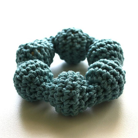 Wintery Blue Soft Circular Rattle