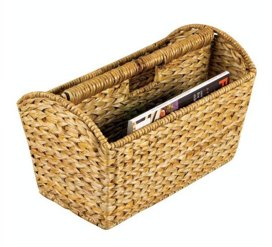 Woven Banana Leaf Magazine Rack