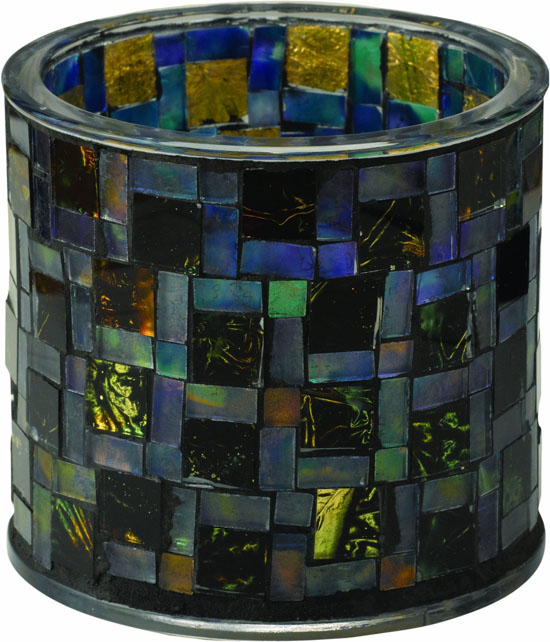 791002-MS1MR Mosaic Glass Table Top Solar Patio Light