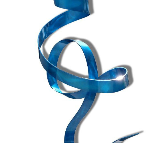 what Abstract Blue Metal Hand-crafted Indoor-outdoor Sculpture